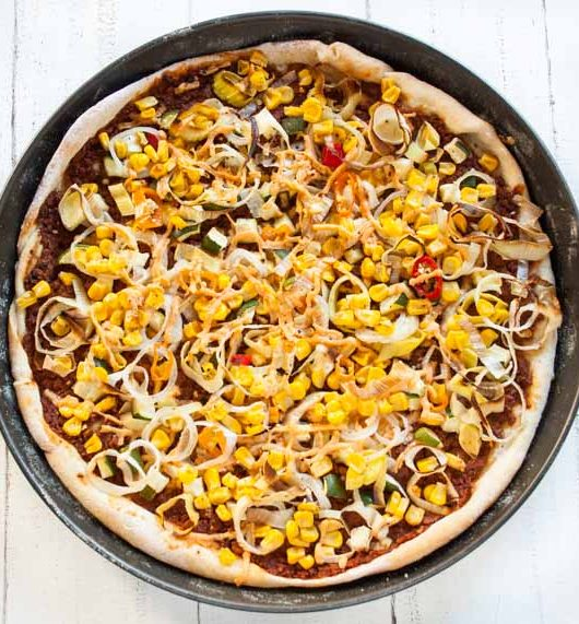 Pizza mit Dayia -The Vegetarian Diaries