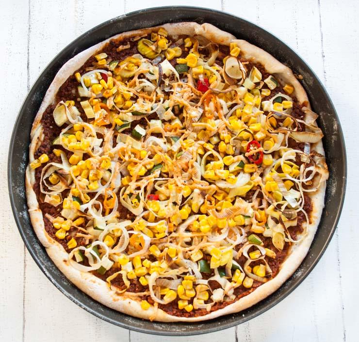 Pizza mit Dayia - veganer Käse - The Vegetarian Diaries