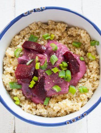 Quinoa mit Rote Bete in einer Kokos-Bananen Soße - The Vegetarian Diaries