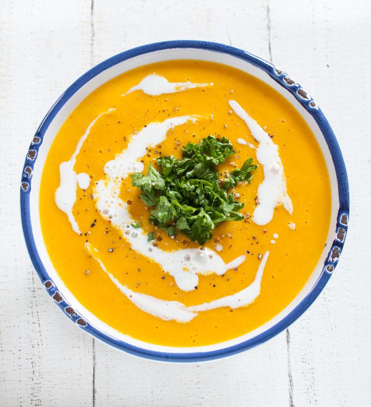 vegane Karotten-Kokos-Suppe - The Vegetarian Diaries
