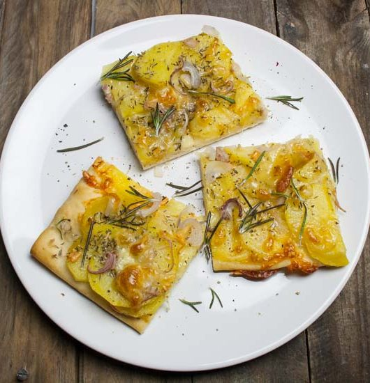 vegane Pizza Patata - The Vegetarian Diaries