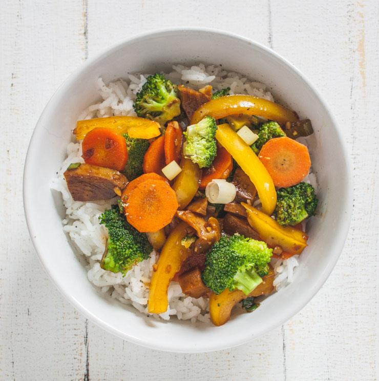 Mock-Duck aus dem Wok mit Gemüse - The Vegetarian Diaries