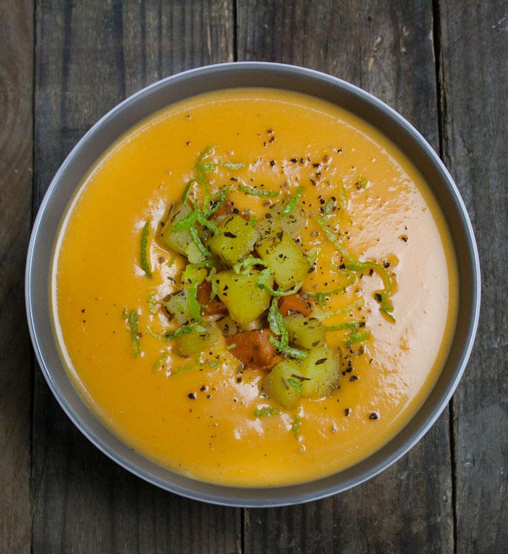 Süßkartoffelsuppe mit Limette - The Vegetarian Diaries