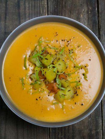 Süßkartoffelsuppe mit Einlage - The Vegetarian Diaries