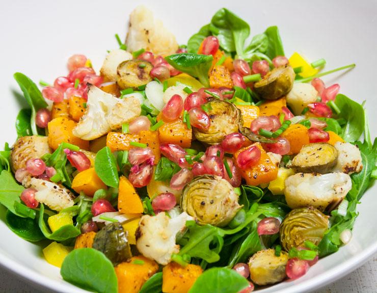 Salat mit geröstetem Kürbis - The Vegetarian Diaries