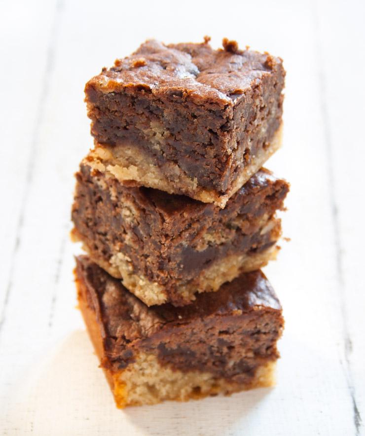 vegane Erdnussbutter-Schoko Brownies - The Vegetarian Diaries