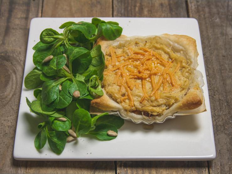 vegane Tartelettes mit Räuchertofu und Sauerkraut - The Vegetarian Diaries