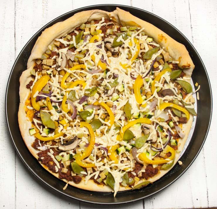 Pizza mit Zuckerschoten - The Vegetarian Diaries