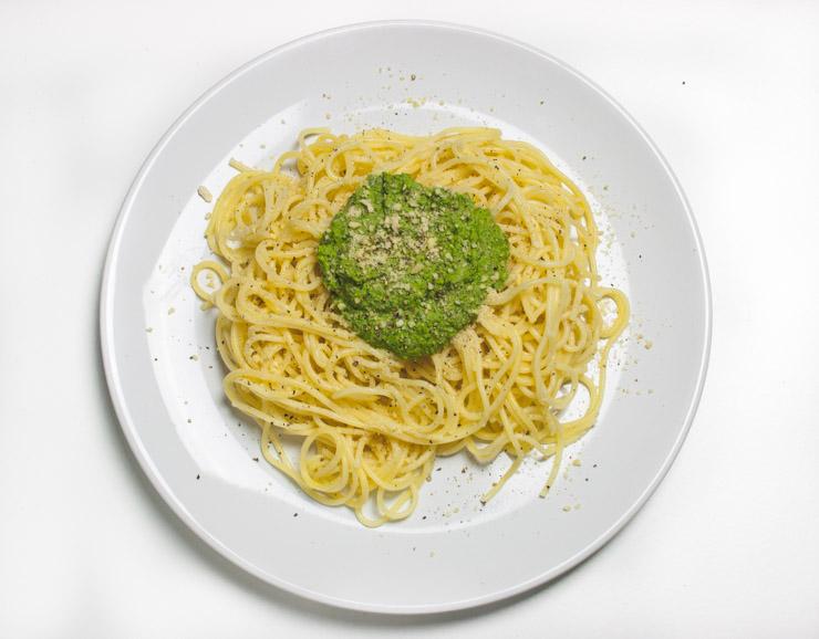 Rucola-Bärlauch-Pesto mit Pasta - The Vegetarian Diaries