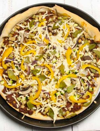 vegane Pizza mit Zuckerschoten - The Vegetarian Diaries