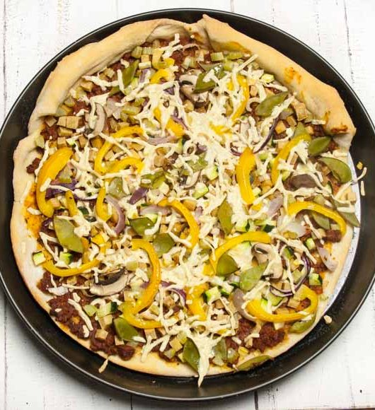vegane Pizza mit Zuckerschoten - The Vegetarian Diaries