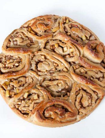 Zimt-Schnecken mit Apfel und Birne - The Vegetarian Diaries