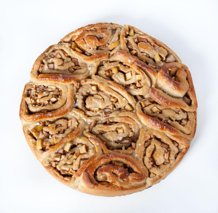 Zimtschnecken mit Apfel und Birne - The Vegetarian Diaries