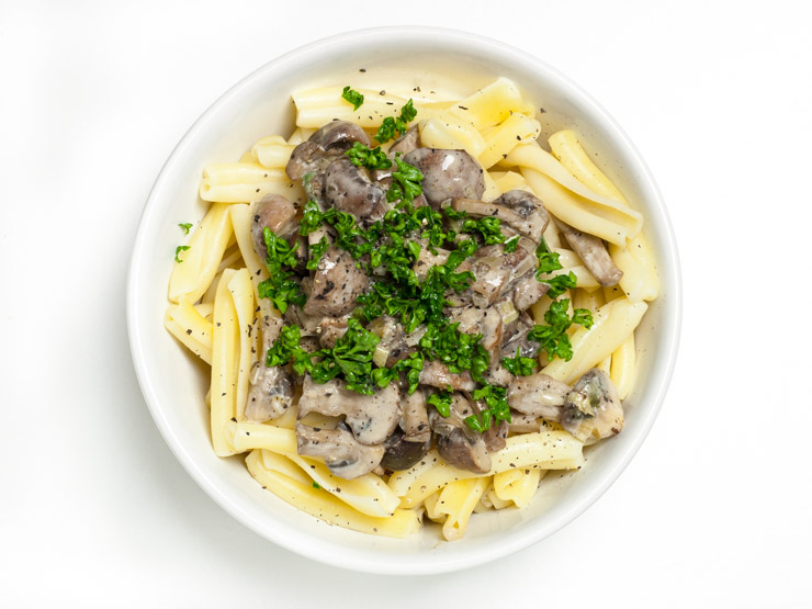 Champignon-Rahm-Soße - The Vegetarian Diaries