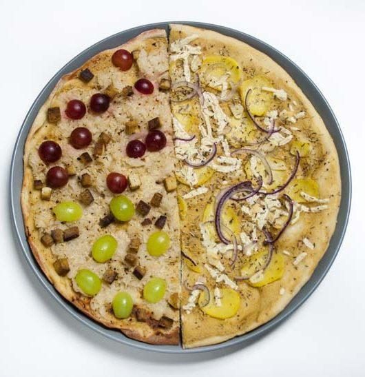 zweierlei vegane Flammkuchen - The Vegetarian Diaries