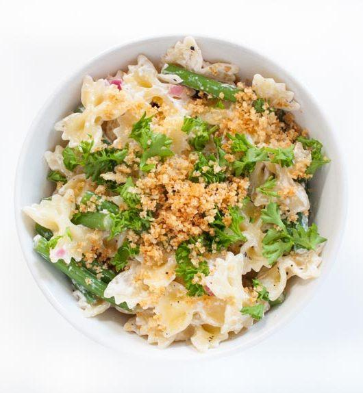 Pasta mit Chili-Knoblauch Bröseln - The Vegetarian Diaries