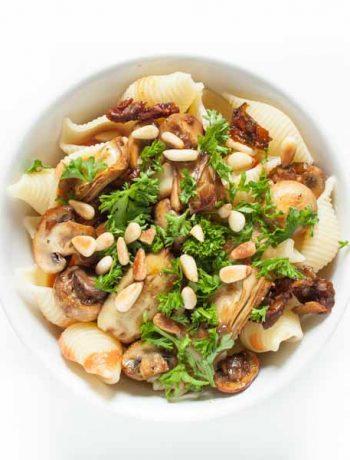 Pasta mit vegane Artischocken und Tomatensoße - Rezept - The Vegetarian Diaries