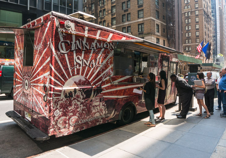 Cinamons Snail Food Truck - vegan essen in New York