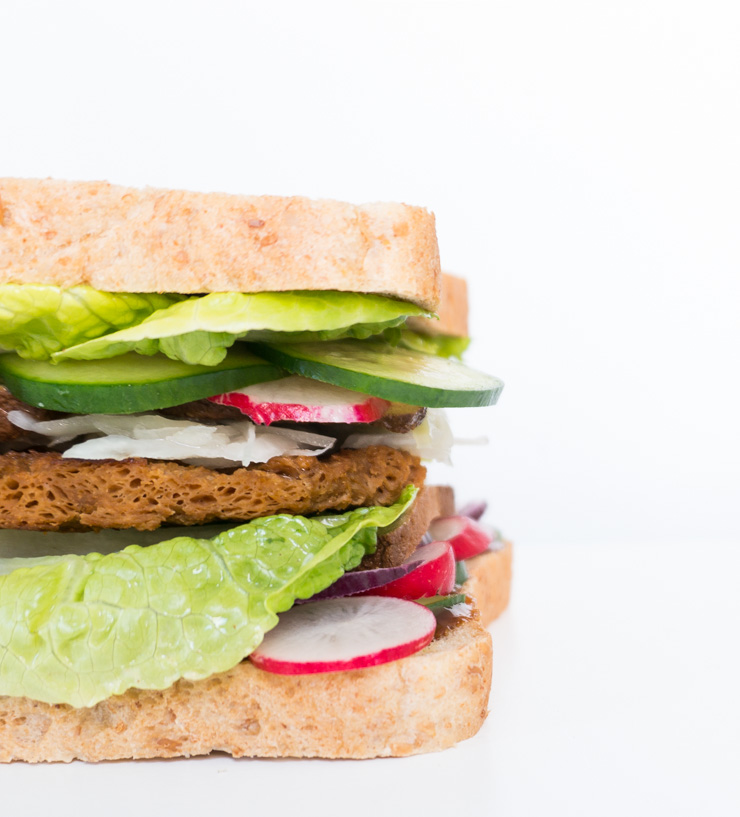 Sandwich mit Soja Big Steak - The Vegetarian Diaries
