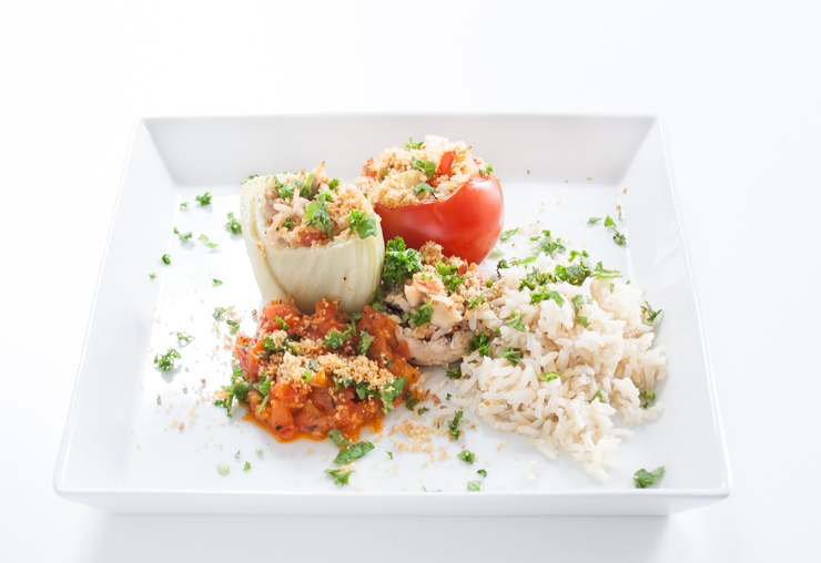gefüllter Fenchel mit Gemüse und Reis - The Vegetarian Diaries