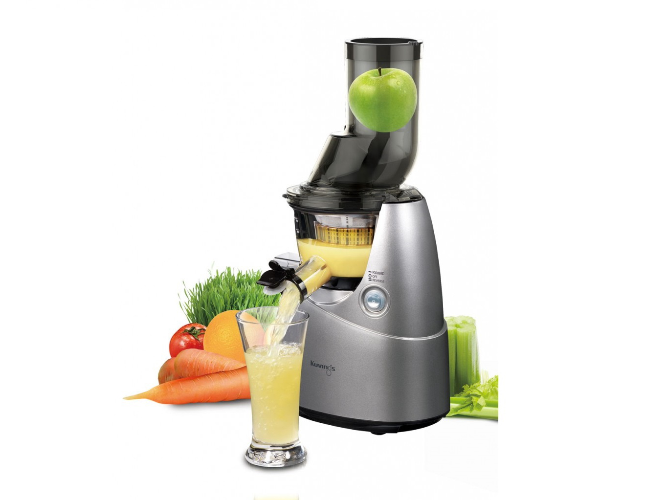 Slow Juicer Kuvings Test : Apfel-Zimt-Sauce auf gedrehten Bandnudeln ? The vegetarian Diaries