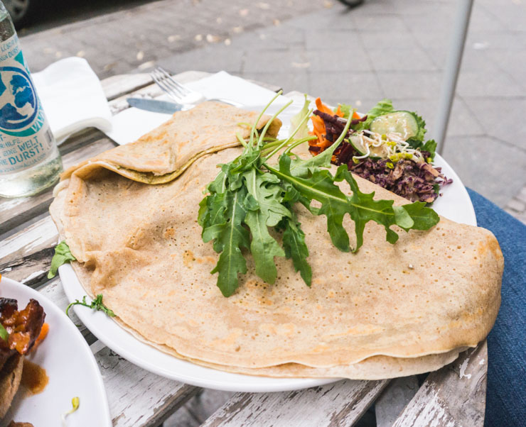 vegane Crepes - Let it Be - Berlin -The Vegetarian Diaries