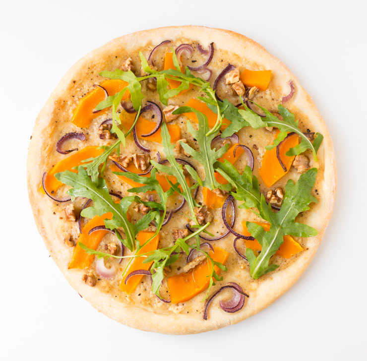 vegane Kürbis-Pizza - The Vegetarian Diaries
