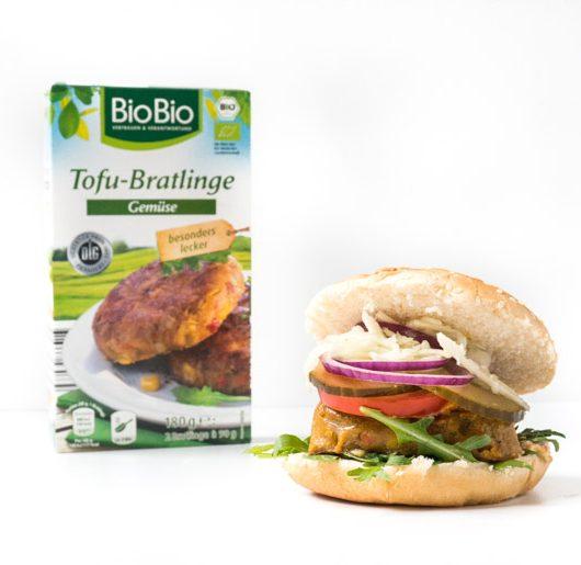 Burger mit Bratlingen von Netto - The Vegetarian Diaires