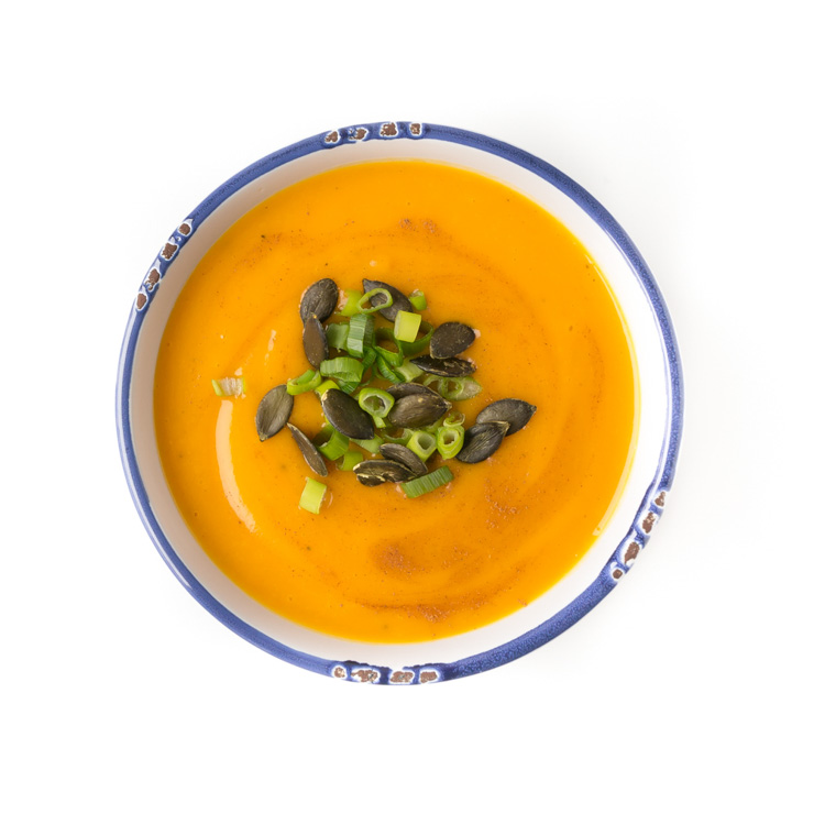 vegane Kürbis-Süßkartoffel-Suppe - The Vegetarian Diaries