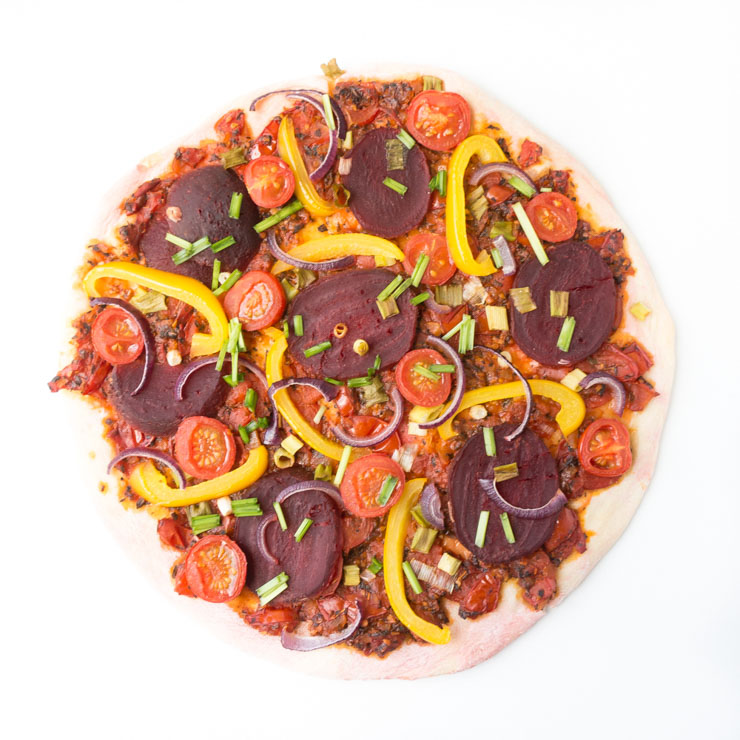 vegane Rote Bete Pizza - Herbst - The Vegetarian Diaries