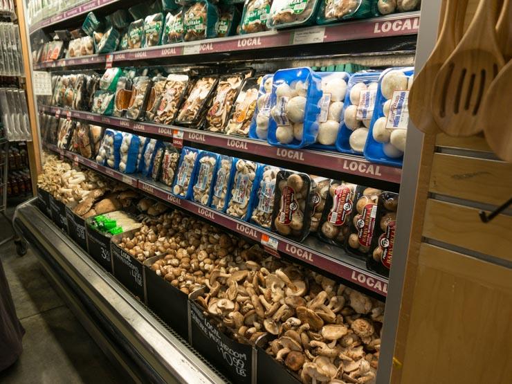 Pilze bei Wholefoos Washington D.C. - The Vegetarian Diaries