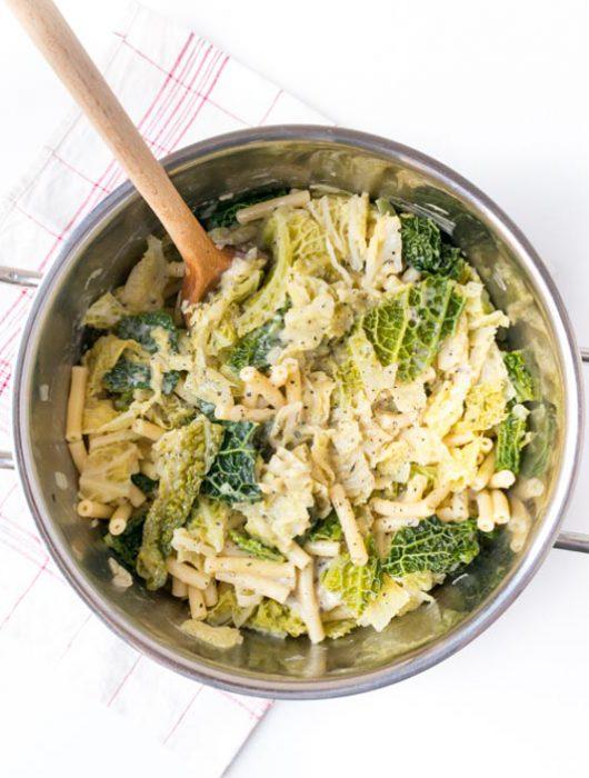 vegane Pasta mit Wirsing - The Vegetarian Diaries