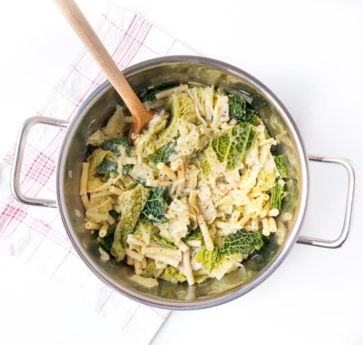 vegane Pasta mit Wirsing - The Vegetarian Diaries