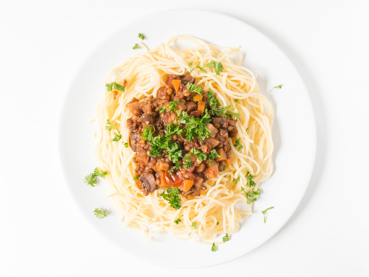 vegane Linsenbolognese - Rezept - The Vegetarian Diaries