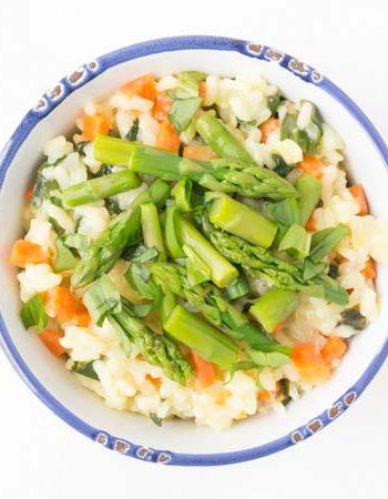 Rezept für ein veganes Bärlauch-Risotto mit Spargel - The Vegetarian Diaries