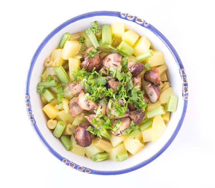 Kartoffelrisotto mit Champignons - The Vegetarian Diaries