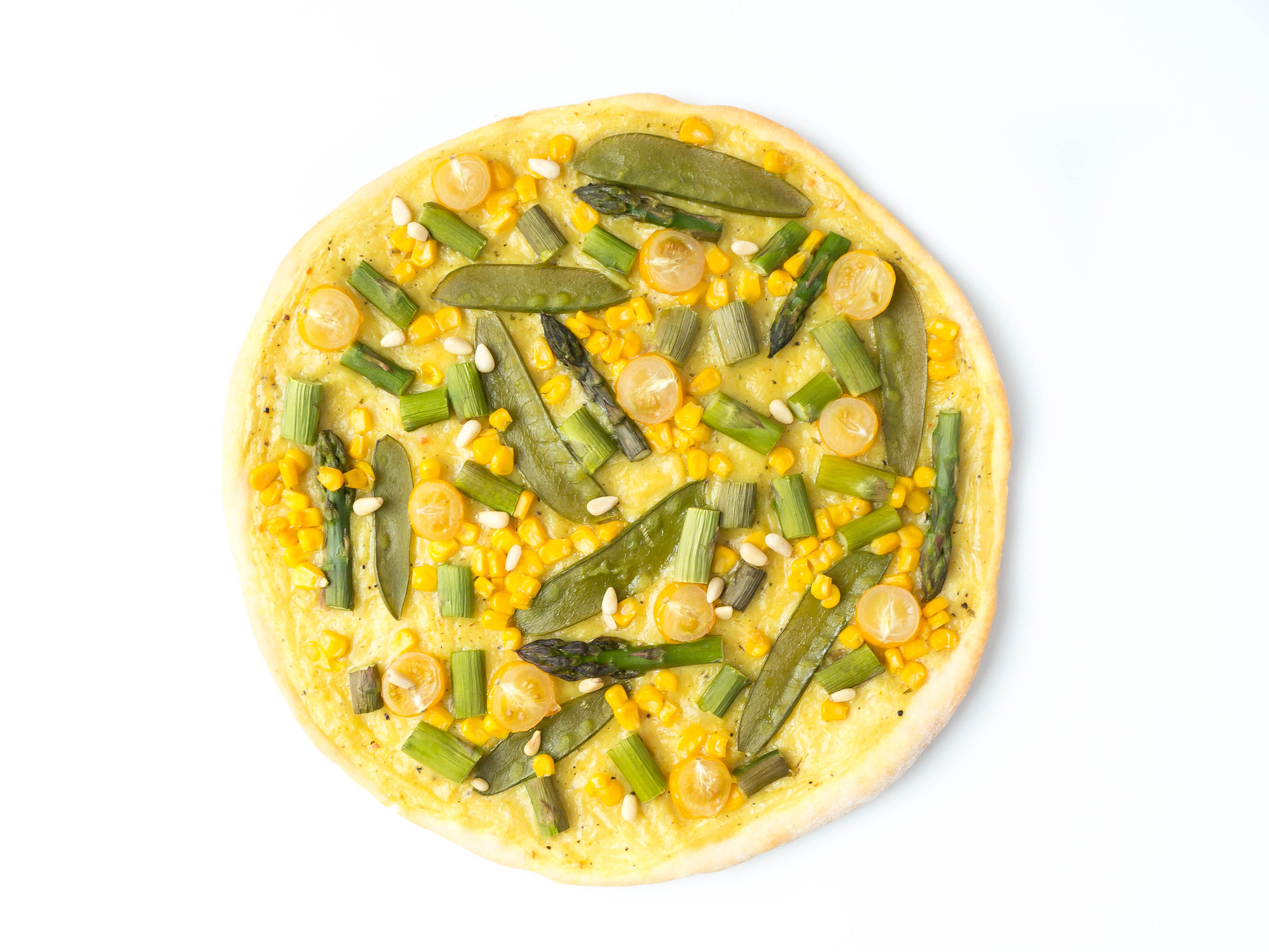 vegane Frühlings-Pizza