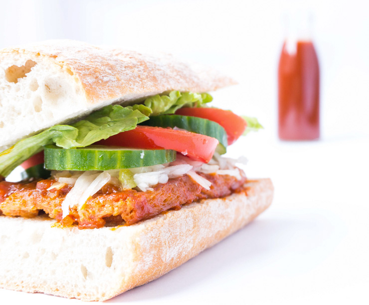 veganes Sandwich mit BBQ-Soße - The Vegetarian Diaries