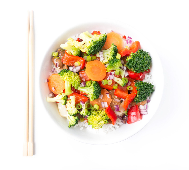 Wokgemüse mit Erdnuss-Seitan - The Vegetarian Diaries