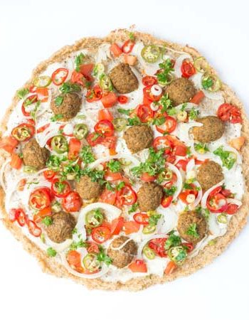 vegane Falafel-Pizza - The Vegetarian Diaries