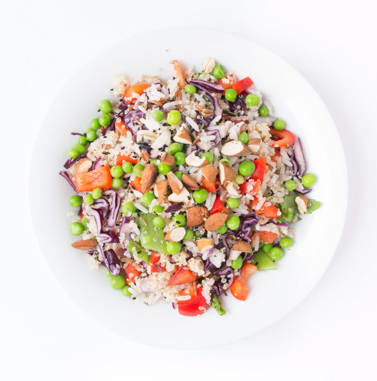 Quinoa-Reis-Salat mit Chili Dressing - The Vegetarian Diaries