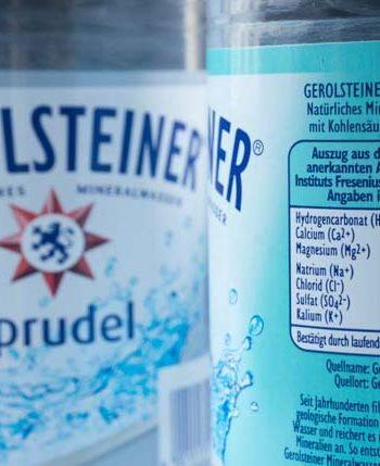 Calcium im Mineralwasser von Gerolsteiner - The Vegetarian Diaries
