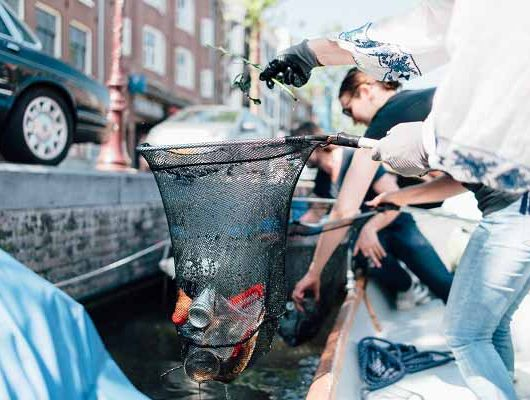 Amsterdamer Grachtenplastik - Ecover