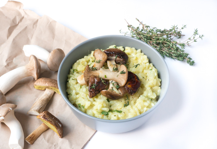 veganes Steinpilz-Risotto mit Wermut - The Vegetarian Diaries