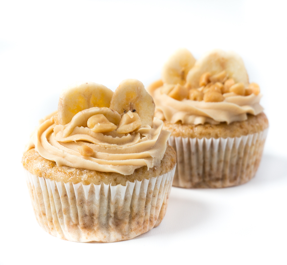 vegane Banana-Split-Cupcakes