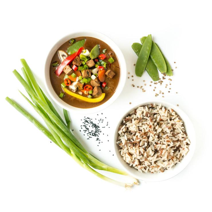 vegan, würziges Curry mit Algentofu - The Vegetarian Diaries