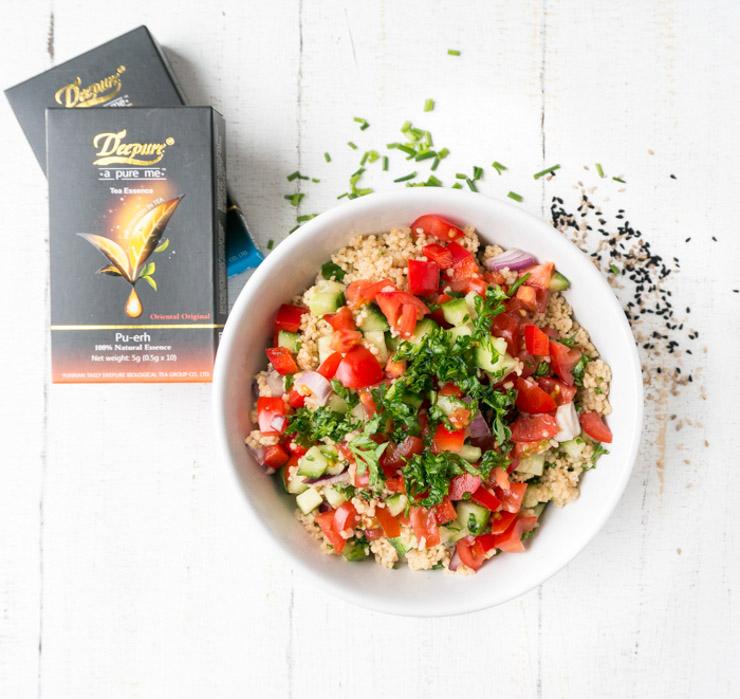 Couscous-Salat mit orientalischem Tee - The Vegetarian Diaries