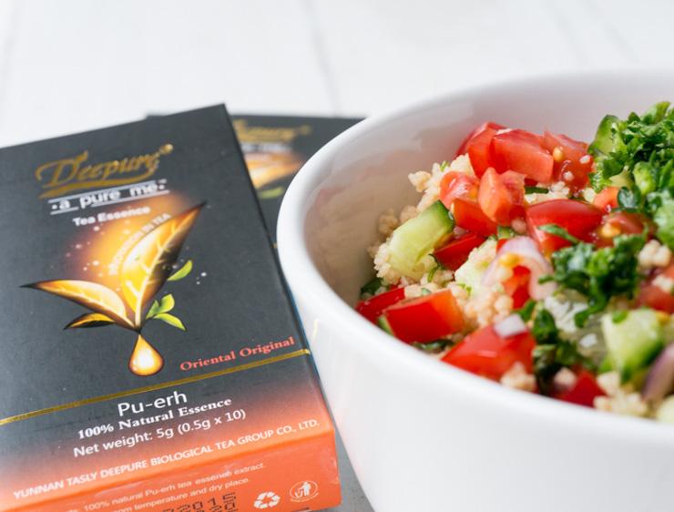 Deepure Tee Oriental - Couscous Salat - The Vegetarian Diaries