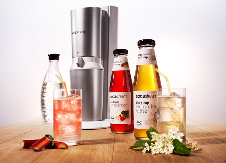 SodaStream_Bio-Sirup Rhabarber und Holunderblüte