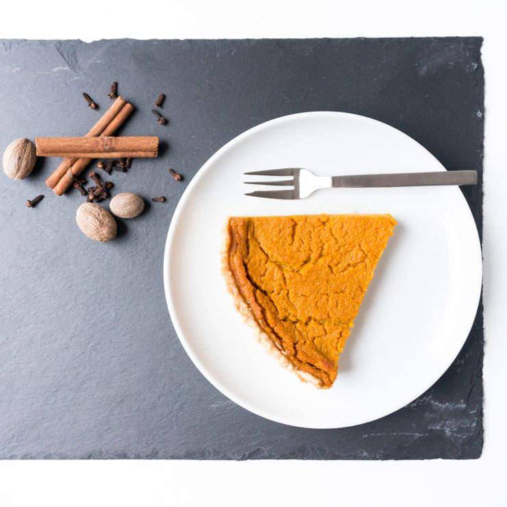 veganer Kürbis-Kuchen - Pumpkin Pie - The Vegetarian Diaries